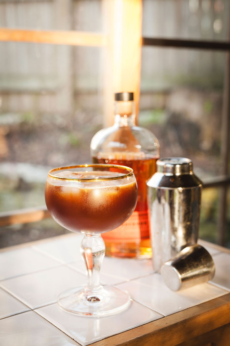Birch Syrup Whiskey Cocktail